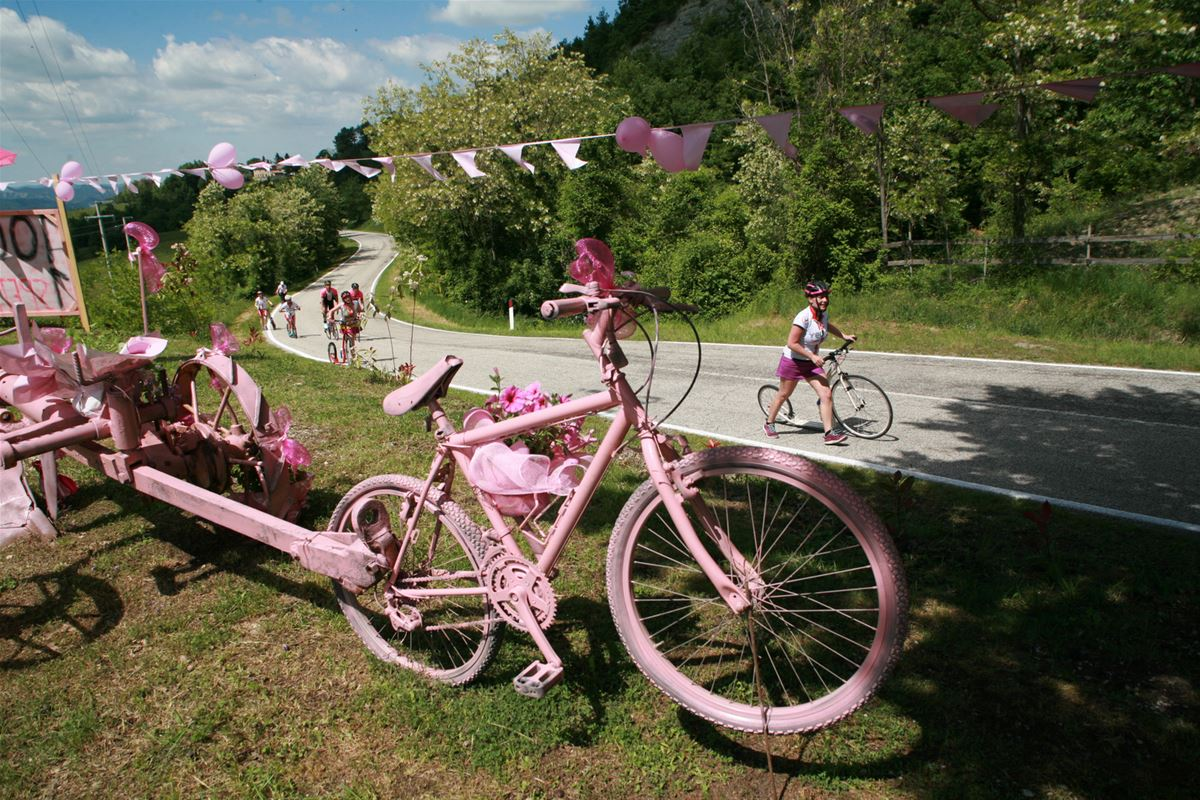 The color of Giro is pink. This is because the La Gazzetta dello Sport newspaper, which is printed on pink paper, participated in establishing the race.