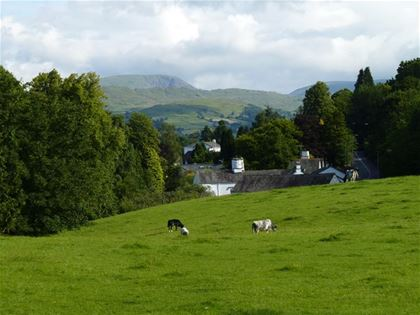 A picturesque countryside in the English national park The Lake District.