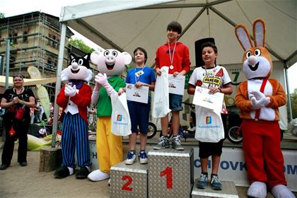 Lucky Clover Friends - the race´s mascot could not miss the awards
