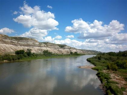 The Red Deer River runs through the centre of the region.
