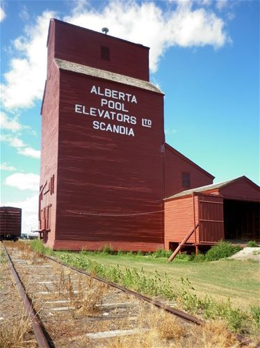 Another red silo, this time in Scandia