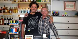 David with Rick Baxter, owner of the petrol station and the shop pointedly called Praire Oasis.