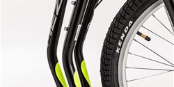 Kenda Kontact tyres give the new collection of scooters optimal ride performance.