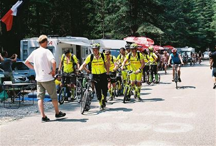 Fans from all Europe were lining along the way to Mont Ventoux from early morning.