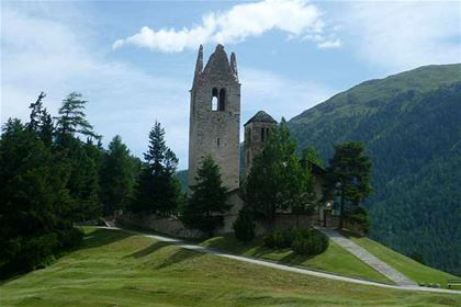 From the Inn cycle route – a small church up in the mountains