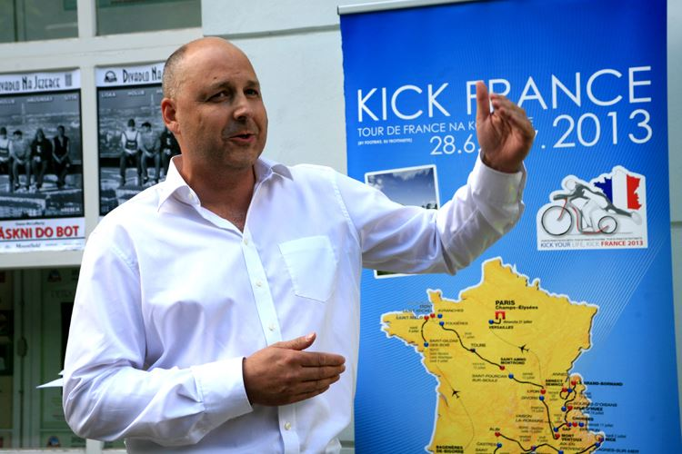 Dan Pilát on a press conference which officially kicked off the Project Kick France 2013 on 12th June.