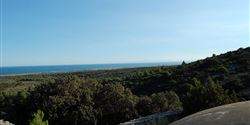 View of the sea from the La Clape mountain
