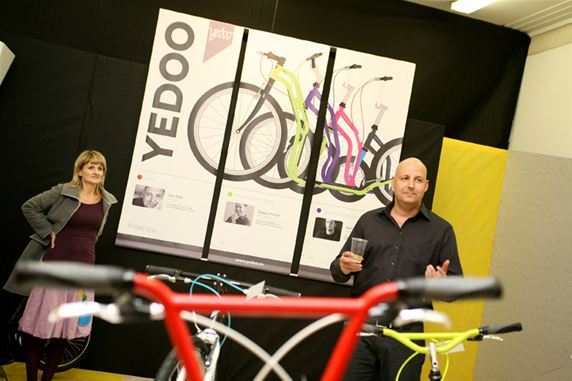 Dan Pilát, general manager of the company producing the brand Yedoo, at the gala opening of the Yedoo Design Mania exhibition at Designblok '12.