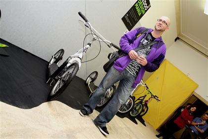 Artist and graphic designer Marek Černý alias MaComiX