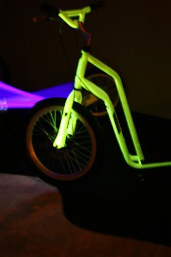 It is because the scooter by the design studio studiovacek.cz shines in the dark...