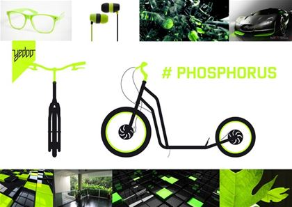 Visualisation of the Phosphorus scooter by the designer Lukáš Kuba.