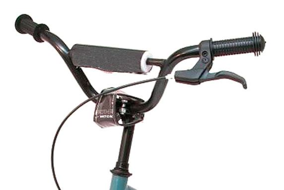 The break lever should always be on the right side of the handle bars, this will prevent you from forming the wrong habit and the potential injuries when switching to a bike (or scooter) with the correctly installed breaks.