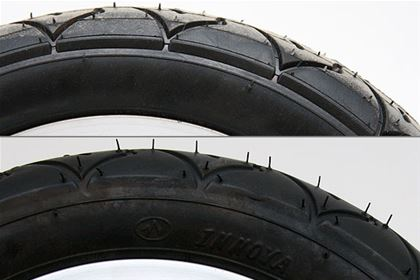 "You can tell good quality tyres by the manufacturer, or even ""by smell."" If the surface of the rubber is too hard, smells bad and is sticky, then it is usually very bad. Yedoo uses good quality tyres Innova."