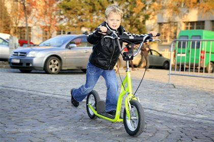 Most of the time, you won't go as far on a scooter as you would on a bike, and often, just a short trip around the neighborhood is enough for a smaller child.
