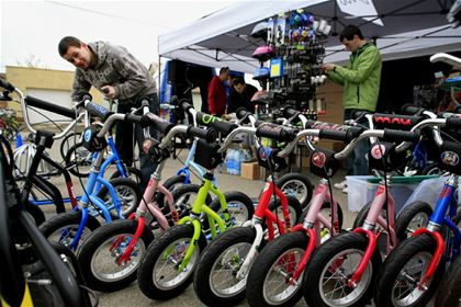 The Yedoo team brought nearly 70 scooters and running bikes of all sizes to Vrbice.