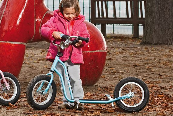Our first models of scooters were made for children.