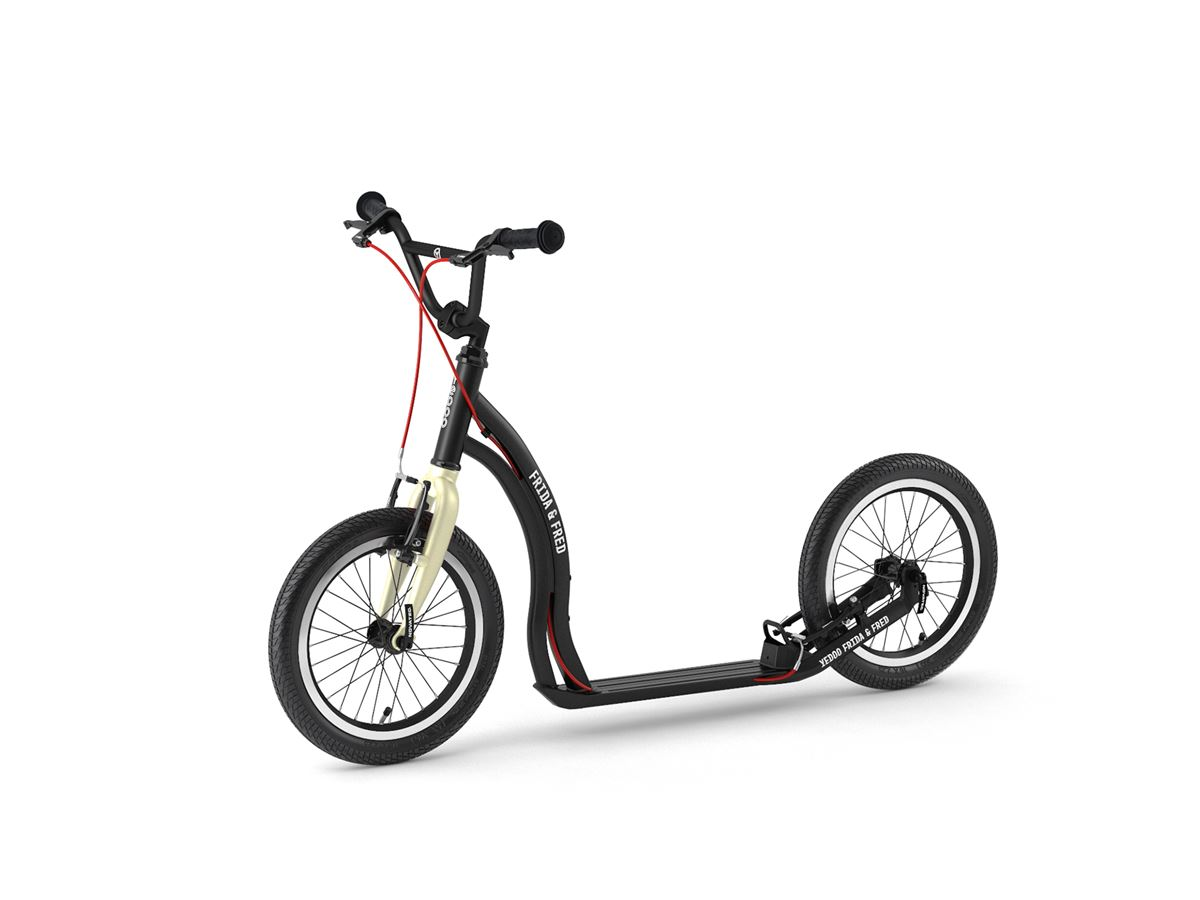 Frida & Fred – scooter for children aged 7+ in Black Cream