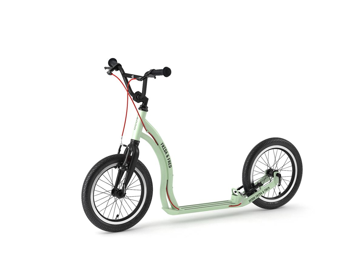 Frida & Fred – scooter for children aged 7+ in Mint Black