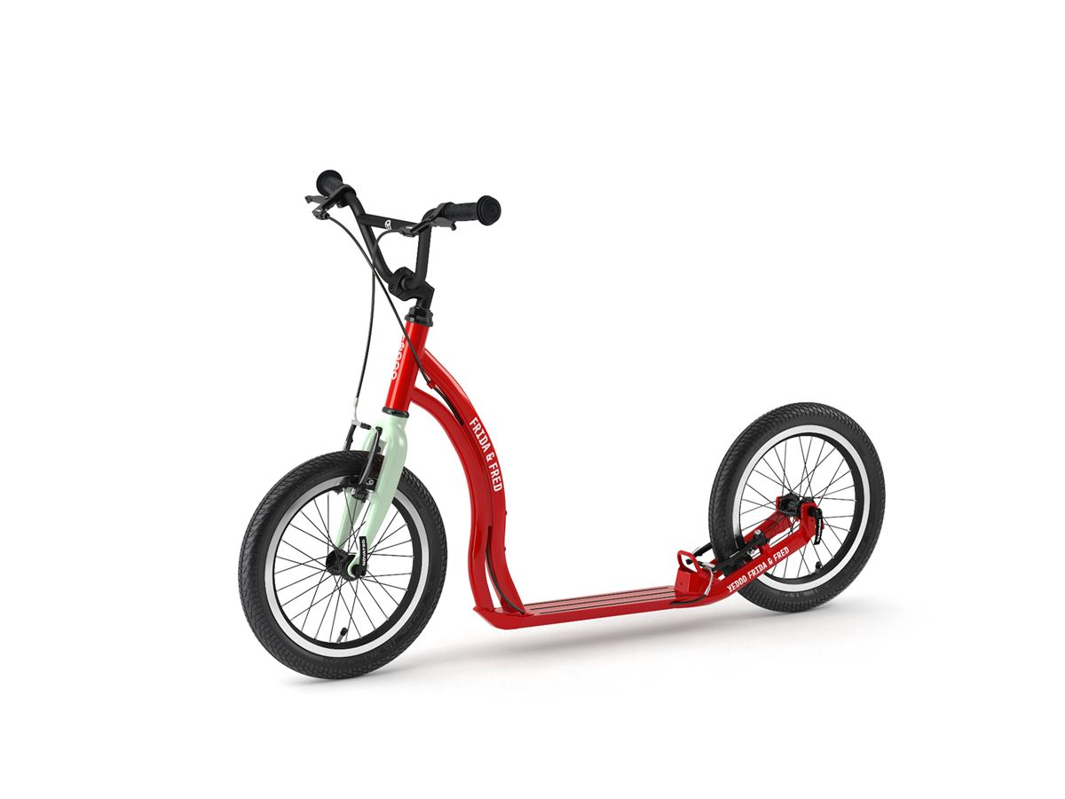 Frida & Fred – scooter for children aged 7+ in Red Mint