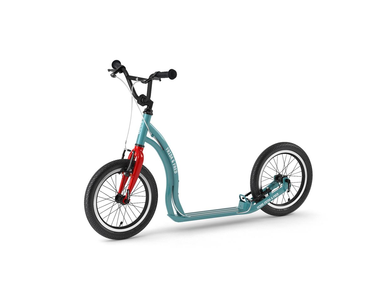 Frida & Fred – scooter for children aged 7+ in Turquoise Red